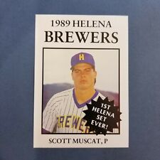 1989 Sports Pro HELENA Brewers #24 SCOTT MUSCAT Greensboro NORTH CAROLINA