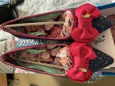 Irregular Choice 'Mint Slice' Low Heel / Flat Bow Shoes - Blue And Pink Size 41