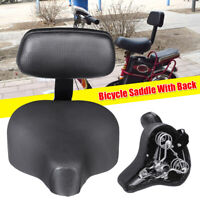 Wide Comfort Cruiser Tricycle Bike Bicycle Saddle Seat Pad Cushion + Back Rest