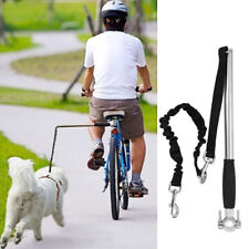 Dog Leash Retractable Handsfree Pet Collar Lead Bike Training Pole Exerciser 1x