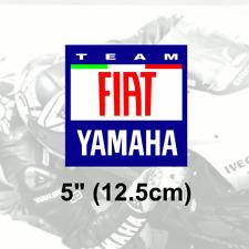 "1 x FIAT YAMAHA Vinyl Sticker Decal 5"" 12.5cm Rossi"
