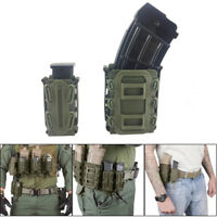 Soft Shell Handgun Mag Carrier Holster with Molle Clip Belt Loop for 9mm 45ACP