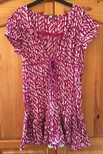 Old Navy Purple Geometric Print Kaftan Tunic Top Boho Smart Casual Size XL