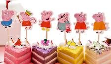 24 Stück Peppa Pig Muffinstecker für Muffins Kuchen Torte Deko NEU!!!