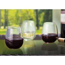 Tritan Unbreakable Stemmless Wine Glasses - Set of 8