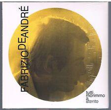 FABRIZIO DE ANDRE' TUTTI MORIMMO A STENTO CD cm. 16x16 DIGIPACK EDITORIALE SIGIL