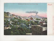 Napoli Panorama dall Hotel Belle Vue al Corse V Em Italy U/B Postcard 639b