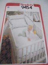 9454 Simplicity Pattern Baby Bedding Pillow Cover,Diaper Bag,Bumper,Coverlet