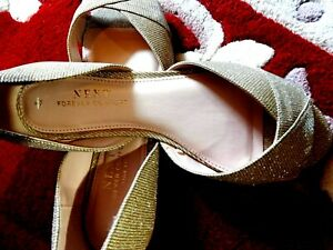 NEXT FOREVER COMFORT SPARKLY slip on shoes size 6.5 wide new with labels
