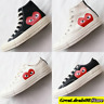 COMME DES GARCONS PLAY Chuck Taylor CONVERSE High Low Tops Black / White Shoes
