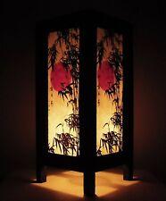 Bedside Table Lamp SAKURA Japanese Blossom Paper Lantern Light Decor Wood Lamp