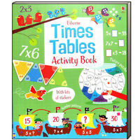 Usborne Times Tables Activity Book (Paperback) from 2 - 12  FREE shipping $35