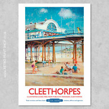 BR Cleethorpes Poster - Railway Posters, Retro Vintage Travel Poster Prints