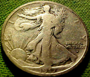 1917-S Obv. Walking Liberty 50c ~ NICE BETTER EARLY DATE SAN FRANCISO MINT 92HM
