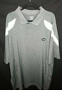 Reebok NFL New York NY Jets Polo Shirt Men's 4XL Gray Heather Charcoal