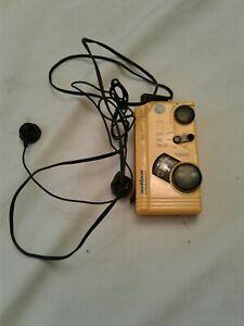 GE Pocket Portable Weatherized  AM/FM Radio Stereo (7-1990-YLA)