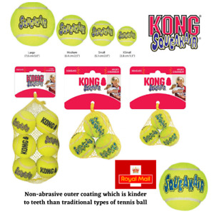 KONG Balls For Dogs SqueakAir Tennis Balls Squeaky Toy Float Extra Small Medium