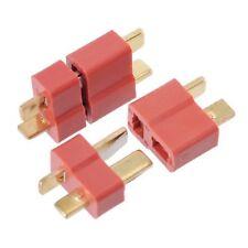 4x Connettore Plug Deans 2 Maschio + 2 Femmina (4pz totali) T-Plug per Lipo Nimh