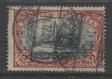 1901 German colonies EAST AFRICA  3 Rupien Yacht  used -TANGA-,  € 230.00