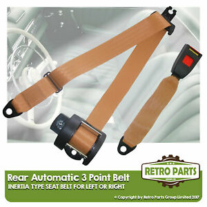 Rear Automatic Seat Belt For Lancia Flavia 2000 Coupe 1969-1975 Beige