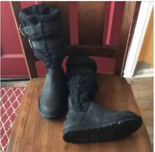 New Ugg Boots Black Knit Double Buckle Knee High Or Mid Calf 6