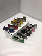 Wholesale Joblot Mix Coloured Engravable Refillable Windproof Petrol Lighters