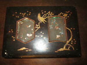 An old Japanese lacquered box