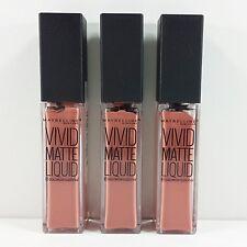 3 x 8ml - Maybelline Color Sensational Vivid Matte Liquid Lip - 50 Nude Thrill