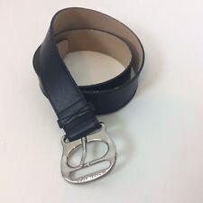 Michael Kors Men's Size Large Black Belt Genuine Leather Silver Tone Buckle