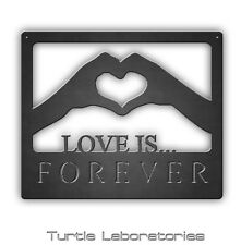 Love is Forever Hands Metal Wall Art Hanging Home Decor Anniversary Gift