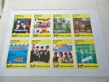 THE BEATLES OVERSEAS RECORD RELEASES TRADING CARDS FULL SET OF 8 ON UNCUT SHEET