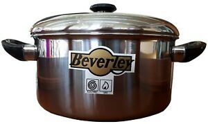 Stainless Steel Stock pot with lid, 24cm  Induction casserole pan, Tri-ply base