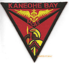 MCAS KANEOHE BAY PATCH US MARINE CORPS AIR STATION MCAF PIN UP NAS MAW HAWAII