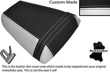 WHITE & BLACK CUSTOM FITS HONDA CBR 600 F 01-03 REAR LEATHER SEAT COVER