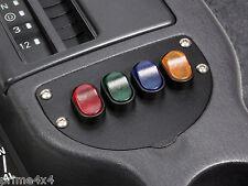 Jeep Cherokee 97-01 XJ 12 Volt 30Amp 4 Illuminated Full Face Rocker Switch Panel