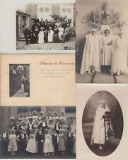 COMMUNNION RELIGION CATOLIQUE CATHOLIC 64 Vintage Cartes-Postales 1900-1940