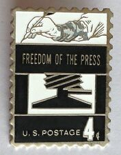Freedom Of The Press US Postage Lapel Pin Badge Quality Austhentic Rare (D10)