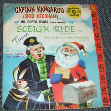 Vintage Golden Record Captain Kangaroo SLEIGH RIDE When Santa Gets Vtg Vinyl