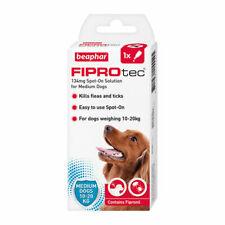Beaphar Fiprotec  Dog Flea Treatment Fipronil Spot On Fleas Tick Solution