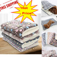 Dog Cat Puppy Pet Plush Blanket Mat Warm Sleeping Soft Bed Blankets Bed Cushion.