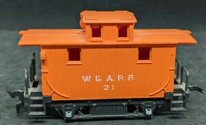 Bachmann: W&A.R.R. #21 HO Bobber Caboose #18444 YELLOW - VINTAGE