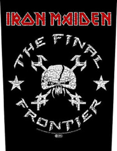IR0N MAIDEN BACK PATCH  SEW ON MADE IN ENGLAND UNDER LICENSE SCREEN PRINTED