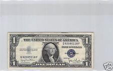 USA SILVER CERTIFICATE $1 DOLLAR 1935 D Q-F N° 92085118 PICK 416D2