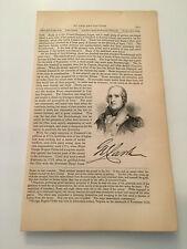 K30) General George Rogers Clarke Virginia American Revolution 1860 Engraving