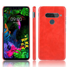 Litchi Texture PU Leather Coated PC Hard Case For LG G8S ThinQ