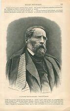 Portrait Alexandre-Gabriel Decamps -Un Porcher France GRAVURE ANTIQUE PRINT 1861