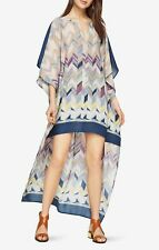 NWT BCBG MAXAZRIA Cristen Ikat Chevron Border Print Dress Kaftan Sleeve Size M/L