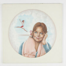 Untitled (Girl Dreaming of Gymnast) By Anthony Sidoni 1984 Signed Oil on Canvas