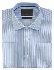 Business-Regular Collar Striped Long Formal Shirts for Men
