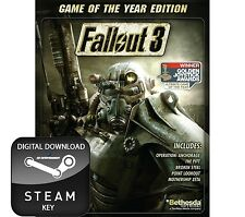 FALLOUT 3 GAME OF THE YEAR EDITION GOTY PC STEAM KEY